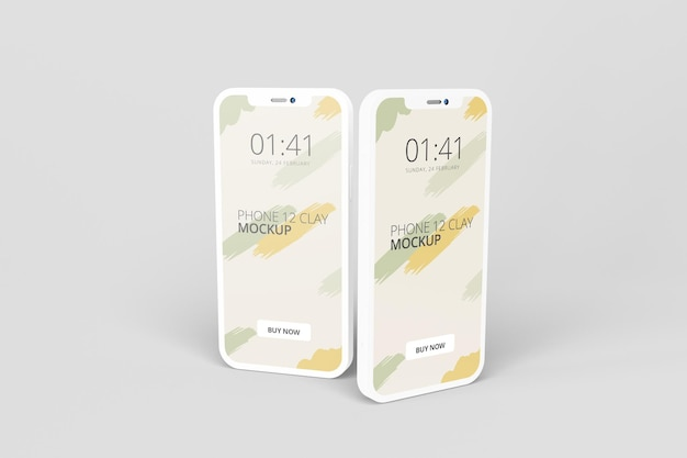 Ton telefon bildschirm modell design isoliert