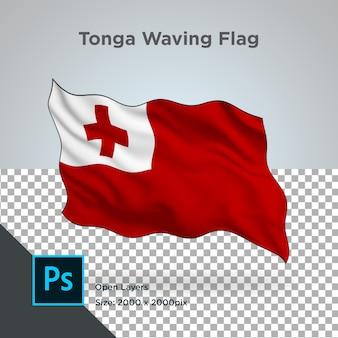 Tonga flag wave design transparent