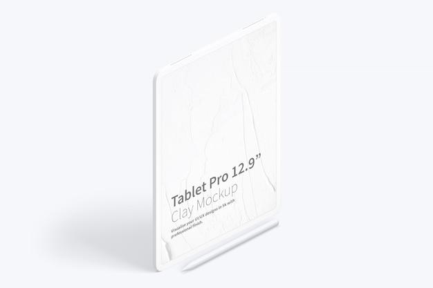 """Tontablett pro 12.9 """"mockup, isometrische ansicht von rechts"""