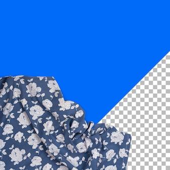 Top-up-sichtserviette mit blumenmuster isoliert