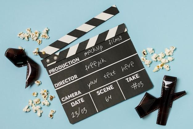 Top view kino arrangement mit modell