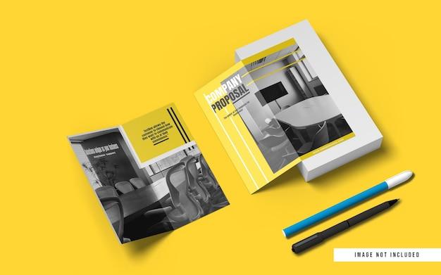 Top winkel dl größe bifold broschüre modell