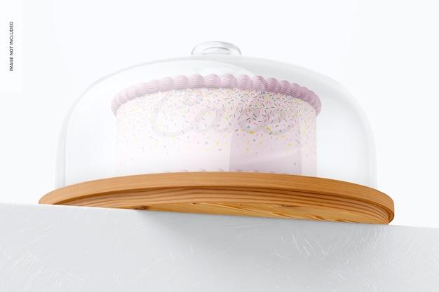 Tortenständer mit kuppeldeckelmodell, low angle view