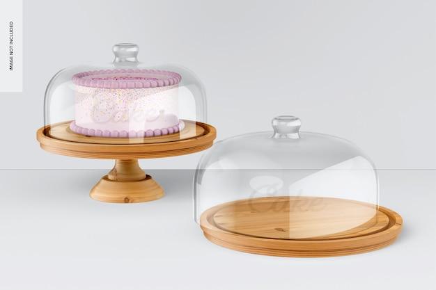 Tortenständer mit kuppeldeckelmodell