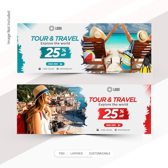 Tour & travel-webbanner, facebook-cover
