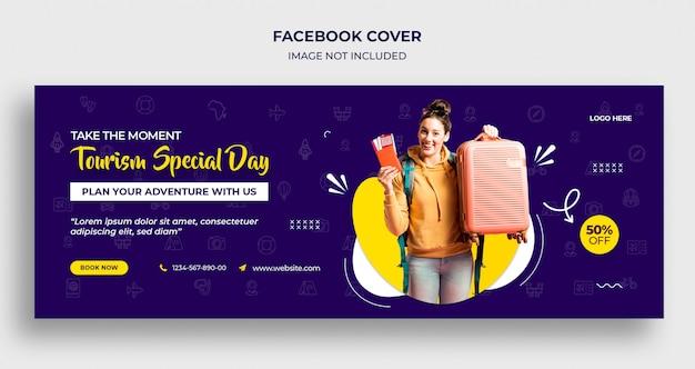 Tourismus besondere tag facebook timeline cover oder header und web-banner-vorlage