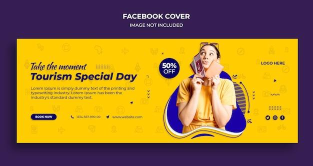 Tourismus besondere tag facebook timeline cover und web-banner-vorlage