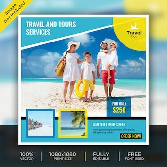 Tourust-vorlage für soziale medien