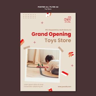 Toy store vorlage flyer