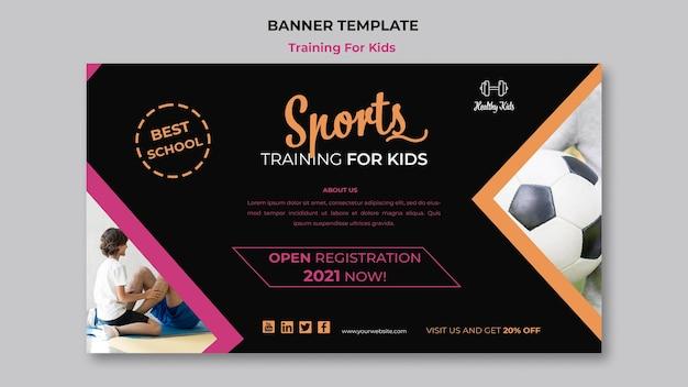 Training für kinder banner konzept