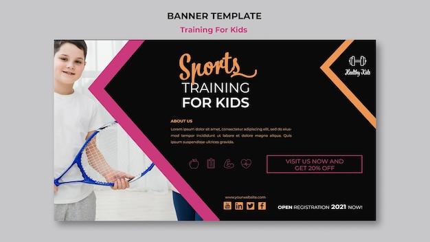 Training für kinder banner stil