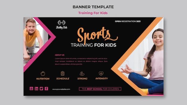 Training für kinder banner thema