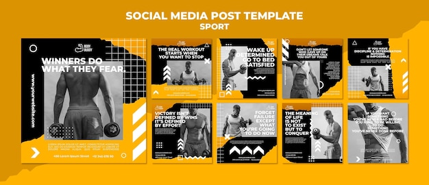 Trainingsprozess social media post vorlage