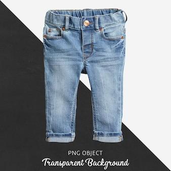 Transparente blaue jeanshose für baby oder kinder