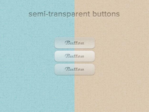 Transparente buttons ui webdesign