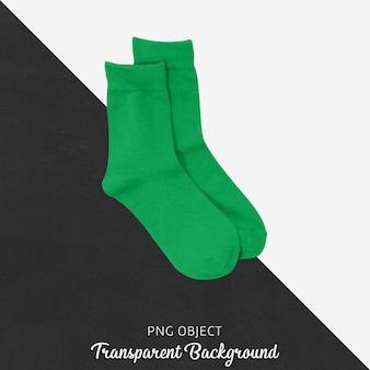 Transparente grüne socken