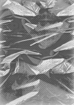 Transparente plastikfolienstruktur