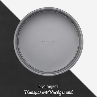 Transparente runde graue kuchenform