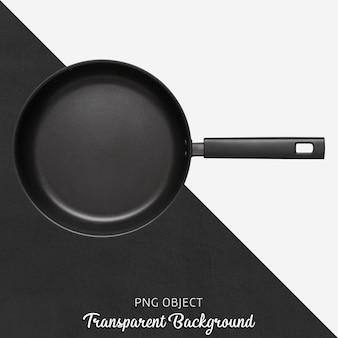 Transparente schwarze teflonpfanne