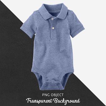 Transparenter, blauer polo-t-shirt-overall, body für baby oder kinder