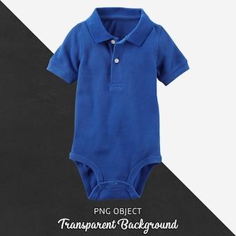 Transparenter blauer polot-shirt bodysuit für baby oder kinder