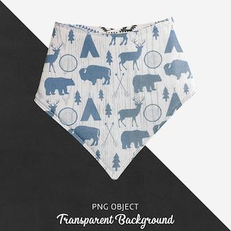 Transparenter bunter gemusterter blauer baby bandana