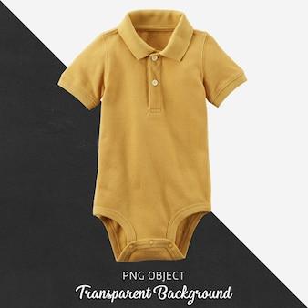 Transparenter gelber polot-shirt bodysuit für baby oder kinder