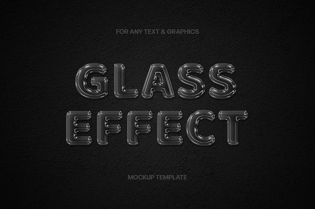 Transparenter glastext-effekt