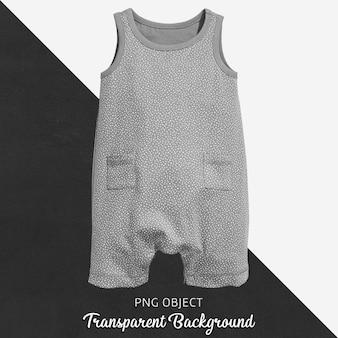 Transparenter grauer overall für baby oder kinder
