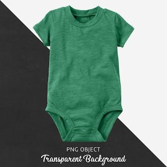 Transparenter grüner body für baby oder kinder