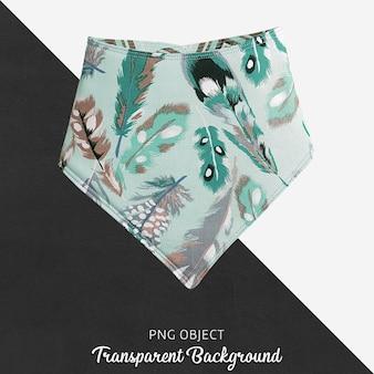 Transparenter grüner gefiederter gemusterter bandana für baby oder kinder