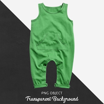 Transparenter grüner overall für baby oder kinder