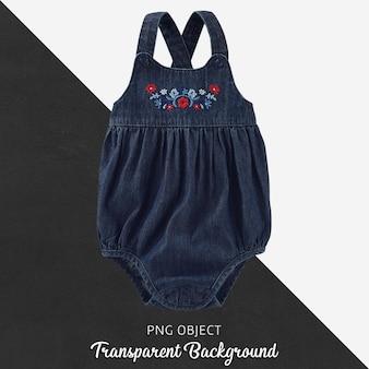 Transparenter jeans-overall für babys oder kinder