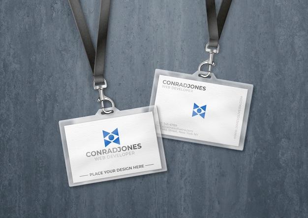 Transparenter kartenhalter aus kunststoff