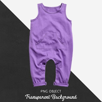 Transparenter lila overall für baby oder kinder