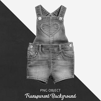 Transparenter schwarzer jeansoverall für baby oder kinder - vorne