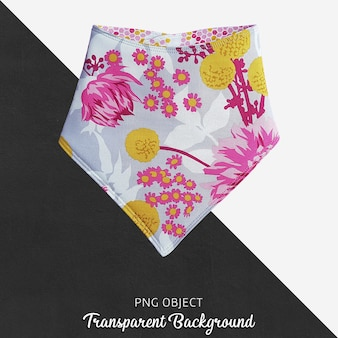 Transparentes buntes und mit blumenmuster baby bandana