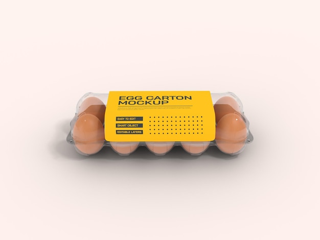 Transparentes eierkartonmodell