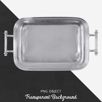 Transparentes silbertablett