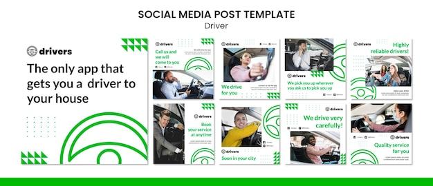 Treiber social media post