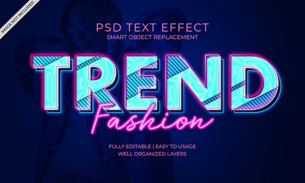 Trend fashion text effect