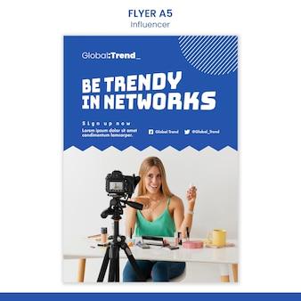Trendy influencer flyer vorlage