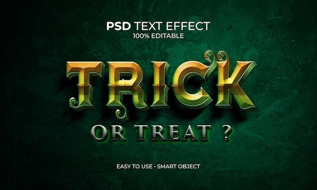 Trick oder treat texteffekt