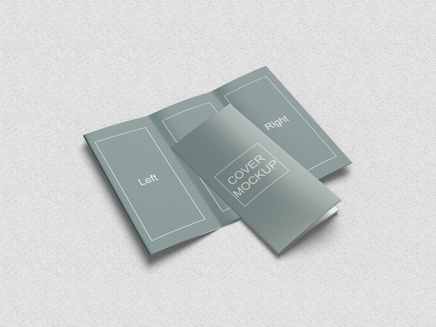 Trifold brochure mockup 1