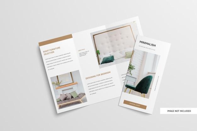 Trifold brochure mockup isoliert