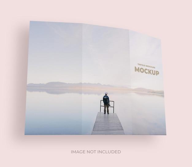 Trifold broschüre außenansicht mockup design isoliert