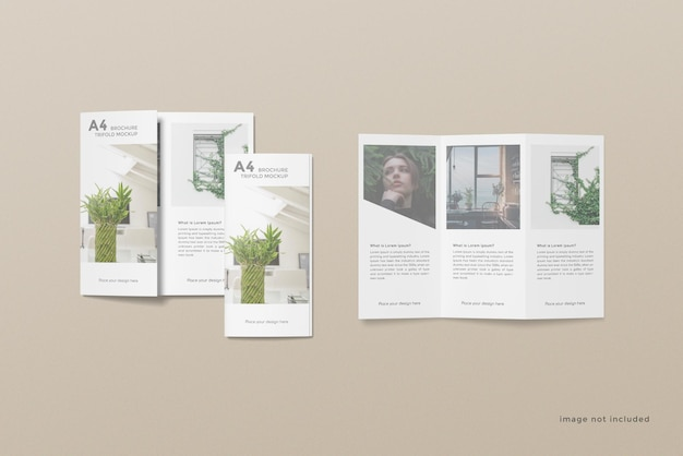 Trifold broschüre mockup design