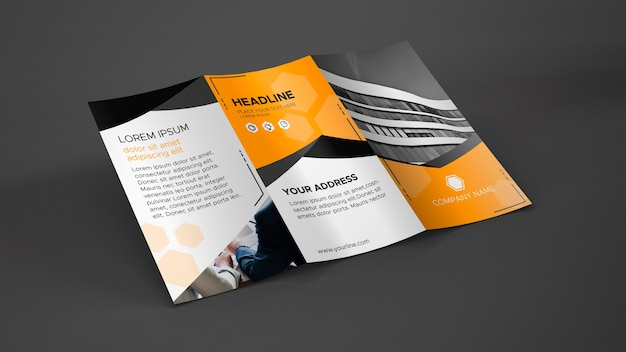 Trifold broschüre modell