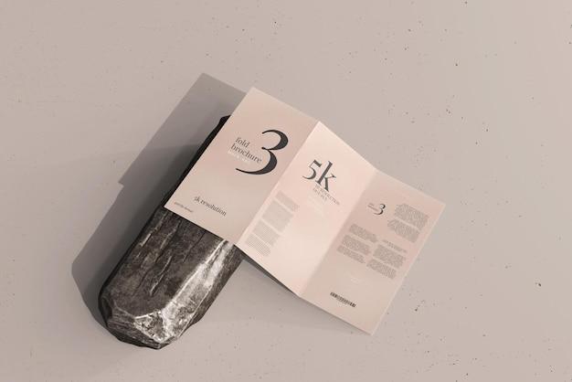 Trifold-broschürenmodell in dl-größe Premium PSD
