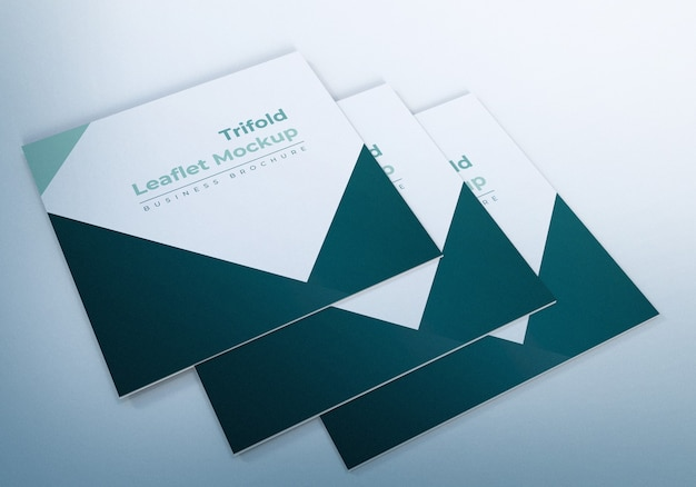 Trifold leaflet mockup illustration